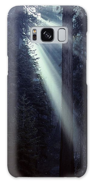 Kings Canyon Galaxy Case - Usa, California, Sun, Smoke, Forest by Gerry Reynolds