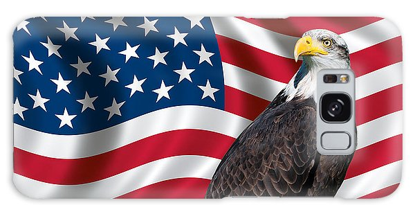Usa Flag And Bald Eagle Galaxy Case by Carsten Reisinger