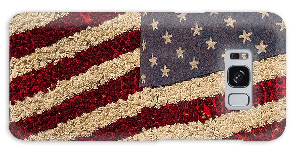 Usa Flag Of Flowers Galaxy Case