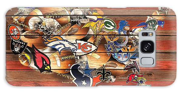 Usa Nfl Map Collage 10 Galaxy Case
