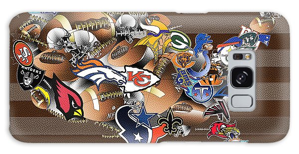 Usa Nfl Map Collage 2 Galaxy Case