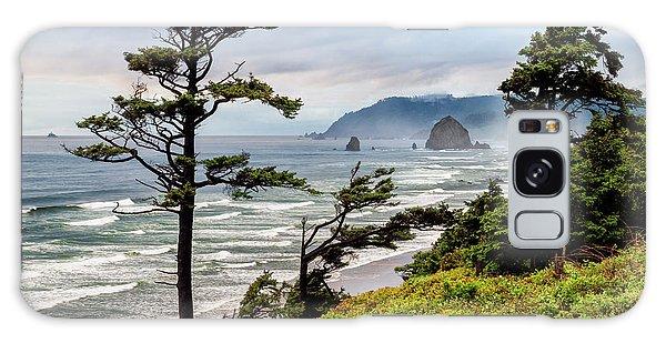 Cannon Galaxy Case - Usa, Oregon, Cannon Beach, View by Ann Collins