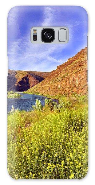 Basalt Galaxy Case - Usa, Oregon Cliffs And Wild Mustard by Jaynes Gallery