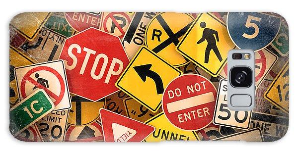 Usa Traffic Signs Galaxy Case by Carsten Reisinger