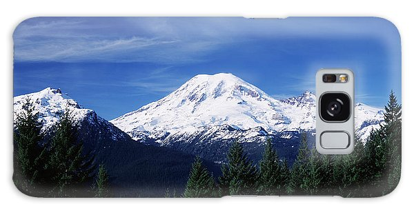 Cold Day Galaxy Case - Usa, Washington State, View Of Mount by Paul Souders