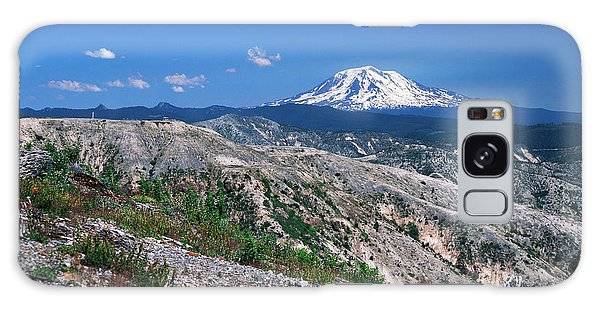 Cold Day Galaxy Case - Usa, Washington State, View Of Mt Adams by Kent Foster