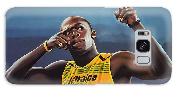 People Galaxy Case - Usain Bolt Painting by Paul Meijering