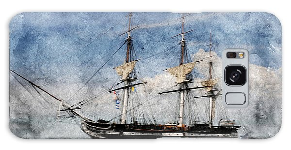 Uss Constitution On Canvas - Featured In 'manufactured Objects' Group Galaxy Case