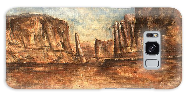 Utah Red Rocks - Landscape Art Painting Galaxy Case