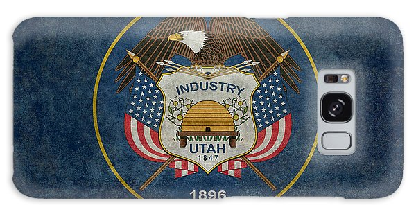 Utah State Flag Vintage Version Galaxy Case