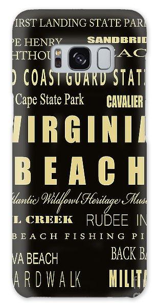 Us Civil War Galaxy Case - Va Beach Subway Bus Tram Scoll Typography by Dave Lynch