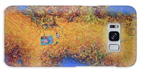 Tides Galaxy Case - Vacationing On A Painting by James W Johnson
