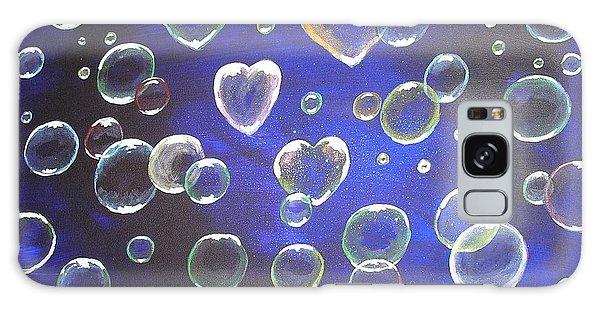Valentine Bubbles Galaxy Case