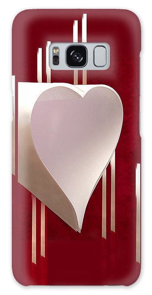 Valentine Paper Heart Galaxy Case by Gary Eason