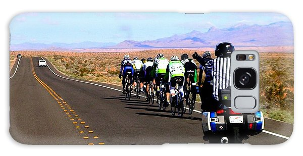 Valley Of Fire Bike Race Galaxy Case by Cindy Croal