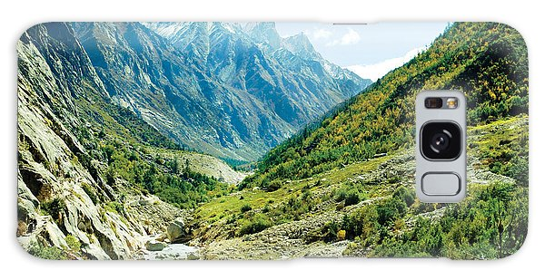 Valley Of River Ganga In Himalyas Mountain Galaxy Case