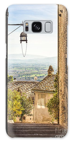 Valley Outside Assisi Galaxy Case