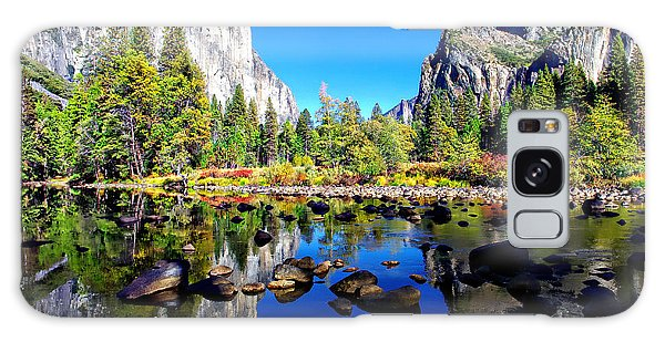 Valley View Reflection Yosemite National Park Galaxy Case