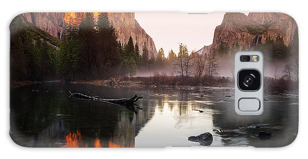 Valley View Winter Sunset Yosemite National Park Galaxy Case