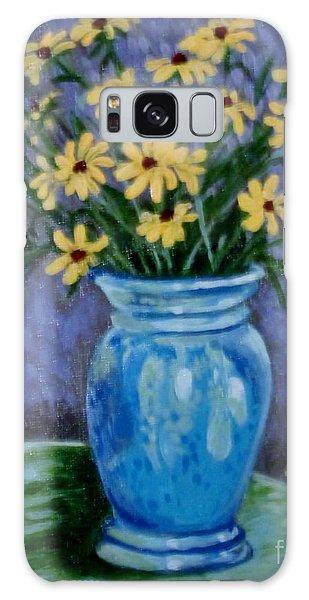 Van Gogh-ish Flowers In A Vase Galaxy Case