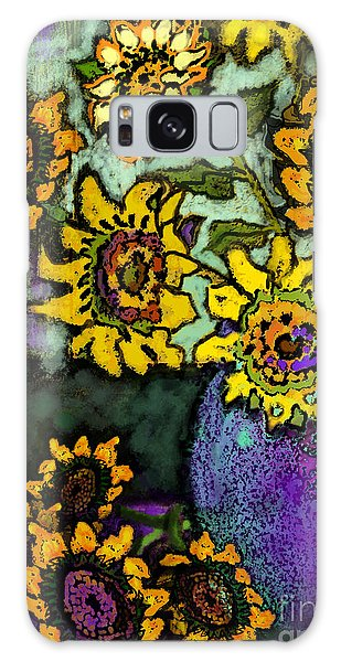 Van Gogh Sunflowers Cover Galaxy Case by Carol Jacobs