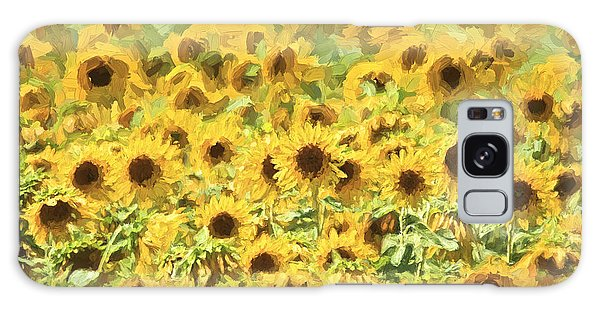 Van Gogh Sunflowers Galaxy Case