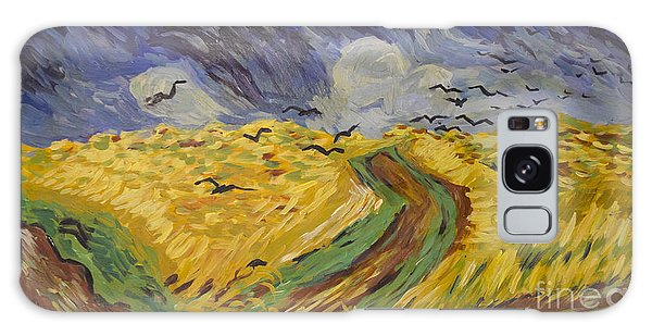 Van Gogh Wheat Field With Crows Copy Galaxy Case