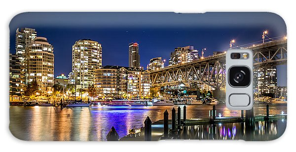 Vancouver At Night Galaxy Case by Sabine Edrissi