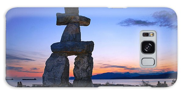 Vancouver Bc Inukshuk Sculpture Galaxy Case