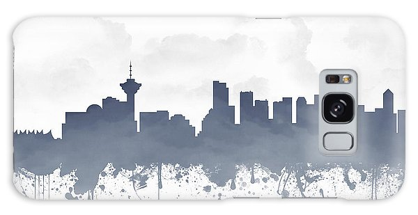 Vancouver City Galaxy Case - Vancouver British Columbia Skyline - Blue 03 by Aged Pixel