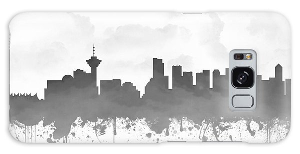 Vancouver City Galaxy Case - Vancouver British Columbia Skyline - Gray 03 by Aged Pixel