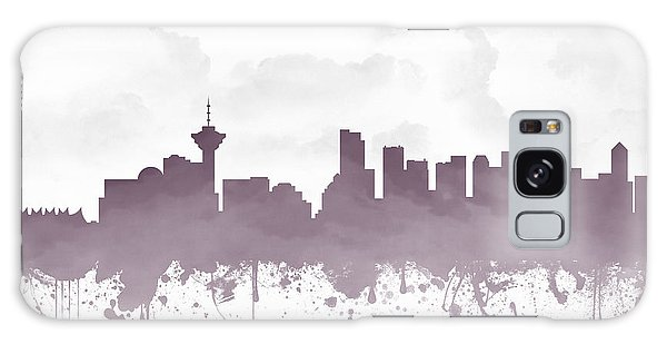 Vancouver City Galaxy Case - Vancouver British Columbia Skyline - Purple 03 by Aged Pixel