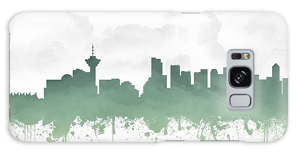 Vancouver City Galaxy Case - Vancouver British Columbia Skyline - Teal 03 by Aged Pixel