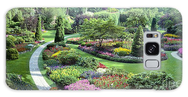Vancouver Butchart Sunken Gardens Beautiful Flowers No People Panorama Galaxy Case