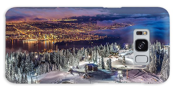 Vancouver City Panorama From Grouse Mountain  Galaxy Case by Pierre Leclerc Photography