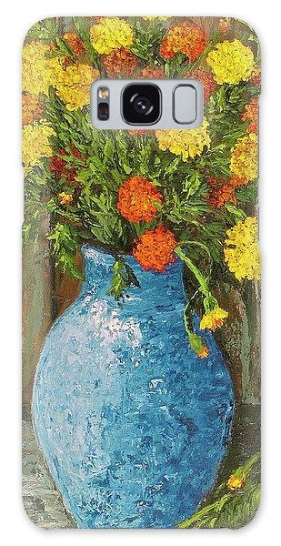 Vase Of Marigolds Galaxy Case