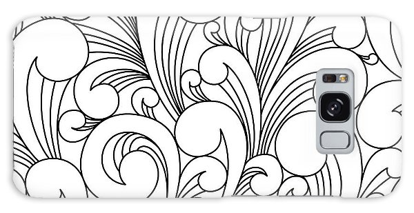Hair Galaxy Case - Vector Black And White Pattern With by Maria galybina