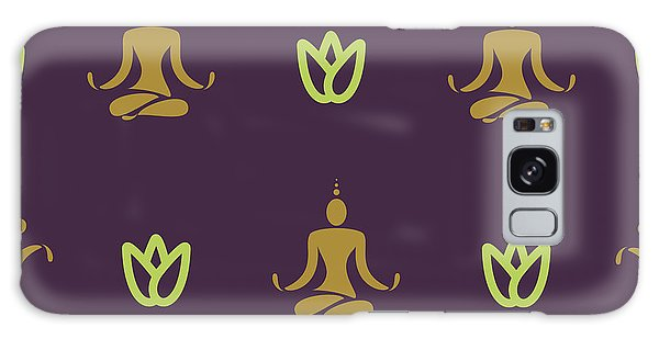 Workout Galaxy Case - Vector Design Yoga Pose Pattern by Mattponchik