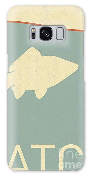 Beam Galaxy Case - Vector Fish And Fish Hook - Retro by Norph