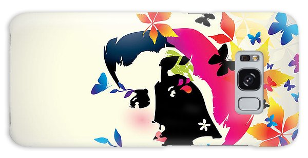 Hair Galaxy Case - Vector Floral Girl by Alessandram