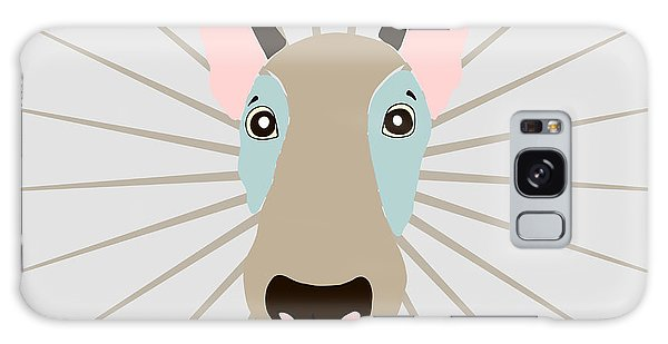 Concept Galaxy Case - Vector Funny Head Of Dog On Vintage by Polanika