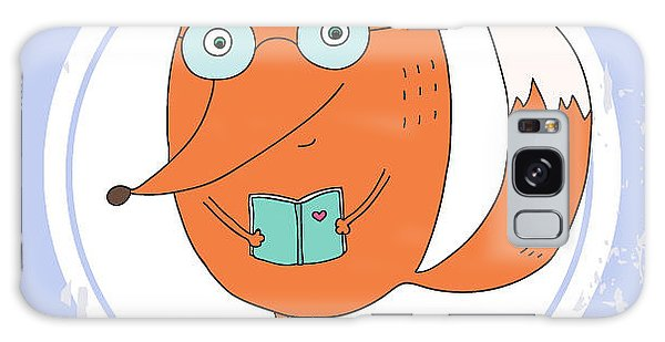 Smart Galaxy Case - Vector Hand Drawn Fox With Book by Ronaleksandra