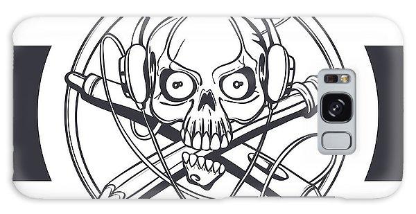 T-shirts Galaxy Case - Vector Illustration Of A Black Skull by Frostyara