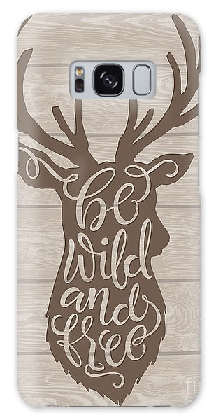Board Galaxy Case - Vector Illustration Of Deer Silhouette by Bariskina