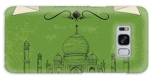 Antique Galaxy Case - Vector Illustration Of Taj Mahal Of by Stockshoppe