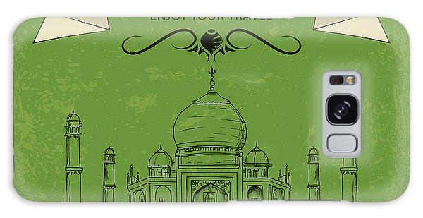 Majestic Galaxy Case - Vector Illustration Of Taj Mahal Of by Stockshoppe