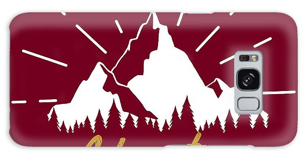 Success Galaxy Case - Vector Illustration With Mountains by Julia Korchevska