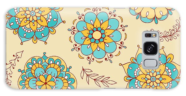 Flowerbed Galaxy Case - Vector Seamless Pattern, Doodling by Xox