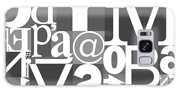 Front Galaxy Case - Vector Typography Blocks by Rob Pitman