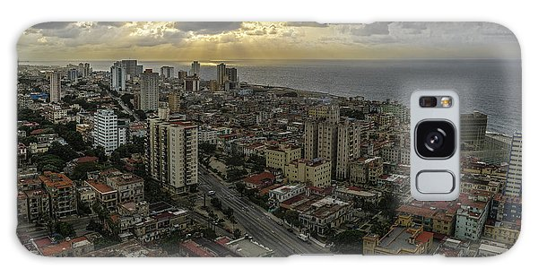 Vedado Havana City Sunset Galaxy Case